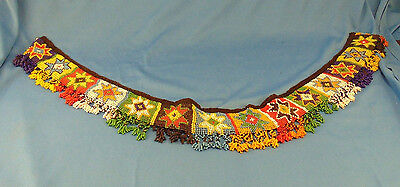 "Vintage beaded belt hand crafted 28"" Native American Star Beadwork art handsewn"