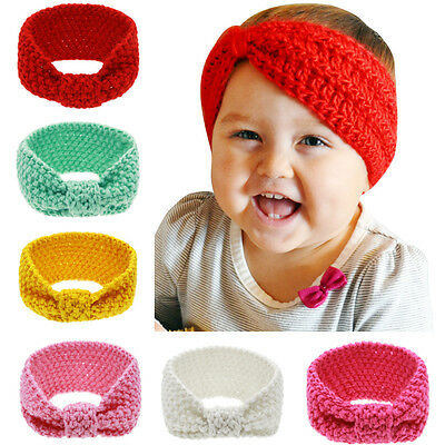 6PCS/LOT Kids Headwear Hairwear Baby Girl Headband Accessories Hair Hibbon Knot