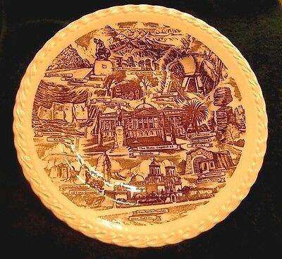 """Arizona Collectible Plate Places Of Interest Made In Usa Vernon Kilns 10 1/2"""""""