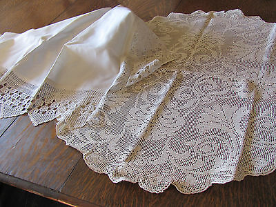 Lot-3* Lavish & Lacy *victorian Mantle Cover & All- Lace Tea Table Round Cloths*