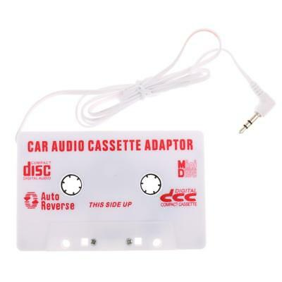 White Car Cassette Casette Tape 3.5mm AUX Audio Adapter MP3 CD MD Player