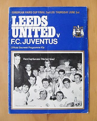 LEEDS UNITED v JUVENTUS Fairs Cup Final 1971 *VG Condition Football Programme*