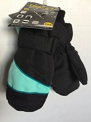 Girls Ski Mittens 3M Thinsulate Waterproof Knit Cuff  Frostline Essentials OSFM