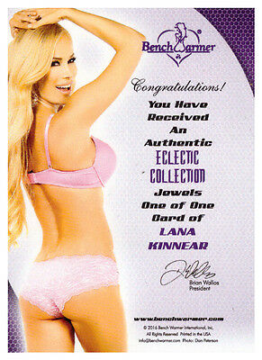 2016 Benchwarmer Eclectic Collection Jewels LANA KINNEAR 1/1 Red Gem Card RUBY