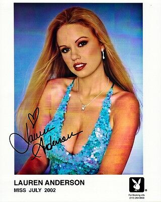 Playboy Playmate LAUREN ANDERSON Signed Photo