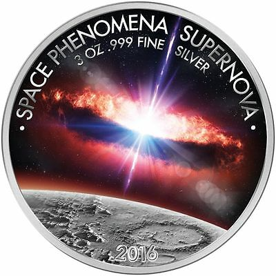 1500 Francs 2016 Burkina Faso - Space Phenomena Supernova 3 oz