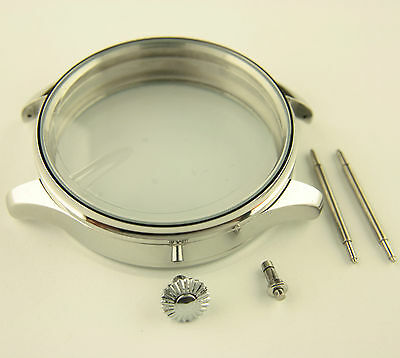 Stainless steel Case 47mm for Antique Pocket Watch Movements