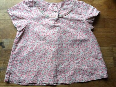 Petit Bateau Baby Girl's Floral Blouse Top Shirt Size Liberty 18-Months