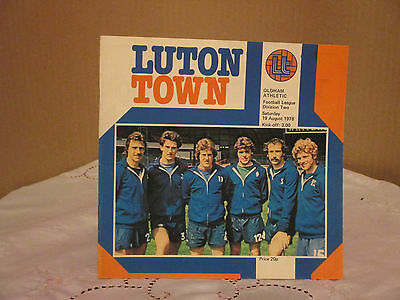 Luton Town V Oldham Athetic  Football League Two 1978