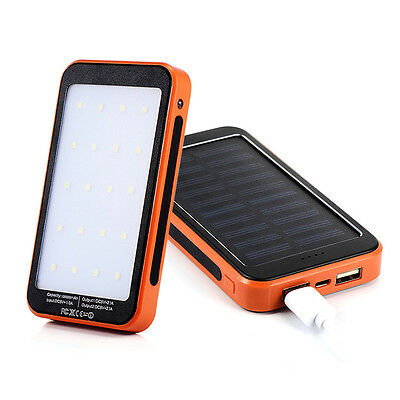 New LED Light Solar Charger Portable Charger Power Bank 100000mAh
