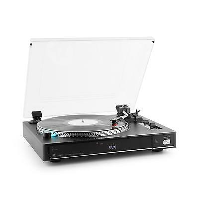 Auna Tt-992 Vintage Vinyl Player Turntable Usb Record Sd Mp3 Remote Dust Cover