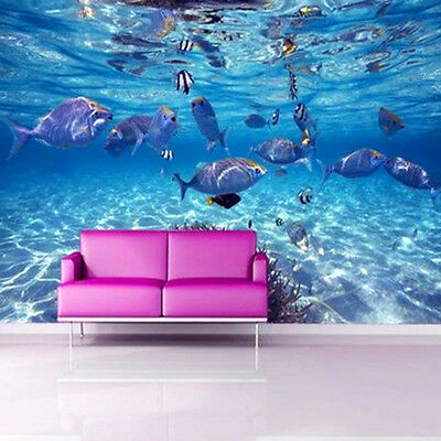 3D Ocean World Wallpaper Roll Bedroom Living Room TV Background Wall Decor
