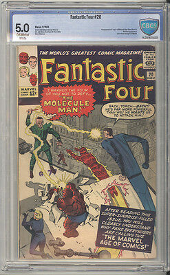 Fantastic Four # 20  First appearance of Molecule Man !  CBCS 5.0 scarce book !