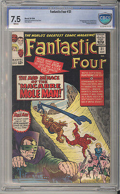 Fantastic Four # 31  Mad Macabre Menace of the Mole Man ! CBCS 7.5 scarce book !