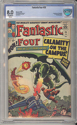 Fantastic Four # 35  Calamity on the Campus !  CBCS 8.0 scarce book !