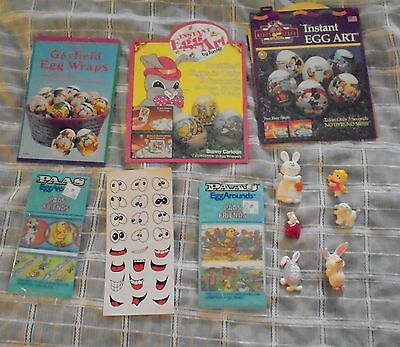 Mixed Lot Easter Hallmark Avon Unbranded Paas Giftco Sun Hill Pins Egg Wraps