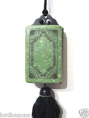 Art Deco Green Celluloid Flapper Vanity Purse Powder Compact Rouge 1920s
