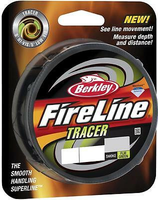Berkley Fireline Tracer Braid - 125 yards/110m - Smoke/Flame Green - CLEARANCE!!
