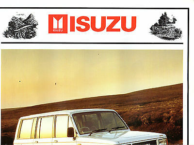 Isuzu Trooper Car  Brochure  4458E