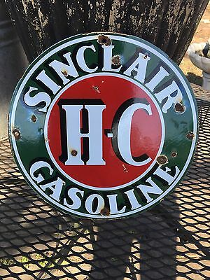 Vintage Sinclair Porcelain Gas Pump Sign