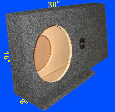 "Ford F150 Supercrew 2004-08 Sin 12"" Drivers Side Grey Subwoofer Enclosure Box"