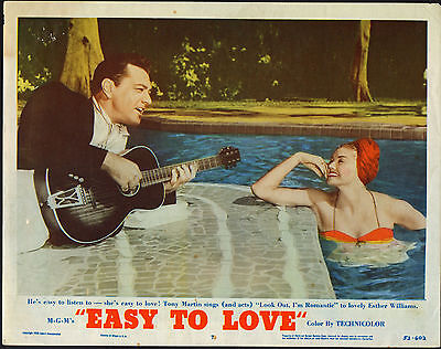 EASY TO LOVE orig 1953 lobby card movie poster ESTHER WILLIAMS/CYPRESS GARDENS