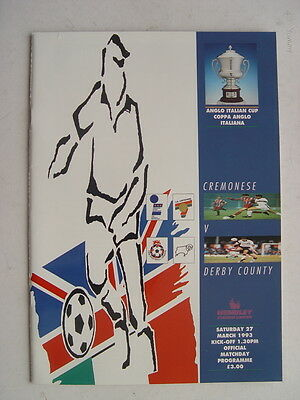 Cremonese v Derby County 1993 Anglo Italian Cup Final