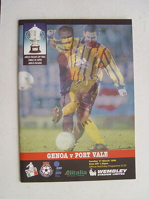 Genoa v Port Vale 1996 Anglo Italian Cup Final