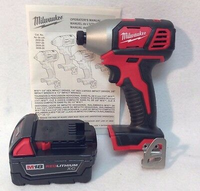 Milwaukee 2656-20 NEW M18 18V Cordless Li-Ion 1/4 in. Hex Impact Driver & 3.0 Ah