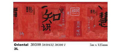 Readyroll 30300 Oriental Chinesse/Japanesse Wallpaper Border Self Adhesive Red