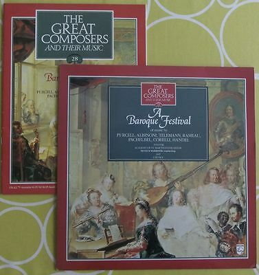 The Great Composers their music booklet A Baroque Festival inc. Purcell Telemann