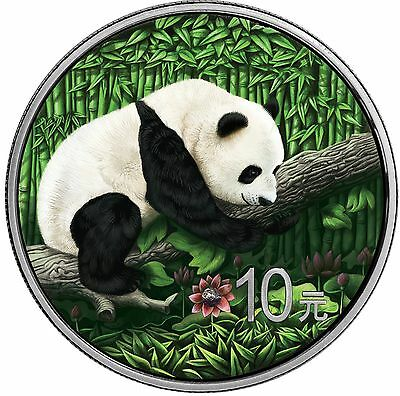 10 Yuan 2016 China - Ounce of Space - Chinese Panda - Nantan Meteorite