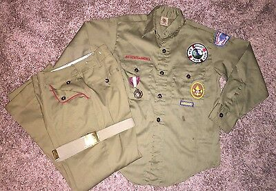 Old Boy Scouts of America Outfit Pants Belt Shirt ~ Official