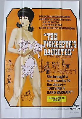 PIGKEEPER'S DAUGHTER Hillbilly Barnyard Comedy ADULT RATED X 1sh MOVIE POSTER 72