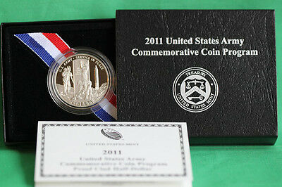 2011 PROOF US Mint Army Half Dollar Commemorative US Mint Coin with Box & COA