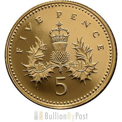 Gold Five Pence Piece
