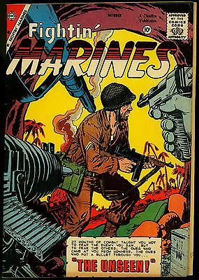 Fightin' Marines #32 1959- Chalrton War Comic- double cover VF
