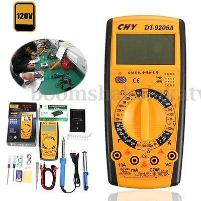 30W/40W/60W Electronics Tech Kit Soldering Iron Digital Multimeter Tester Stand