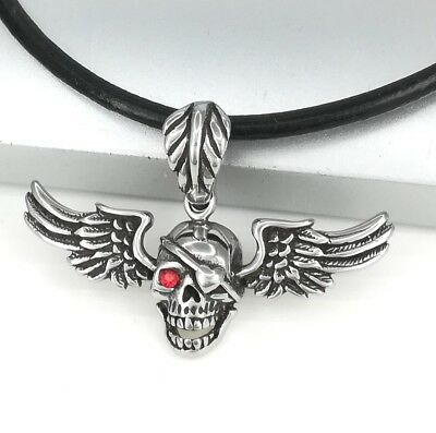 Silver Alloy Hand Eye Symbol Pendant Dark Brown Leather Tribal Ethnic Necklace