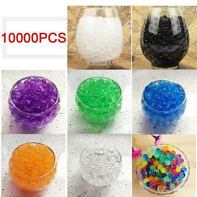 10000X Water Balls Crystal Pearls Jelly Gel Beads for Orbeez Toy Refill Decor BS