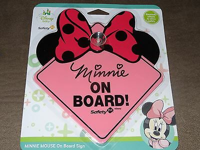 Baby Disney Minnie Mouse On Board Sign-Free Shipping-New In Package