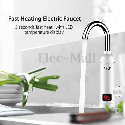 3000W LED Tankless Fast Heating Hot Electric Faucet Water Instant Heater Tap