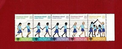 Christmas Island 1979 Int Year of the Child, SG 108/12a, MNH Strip of 5
