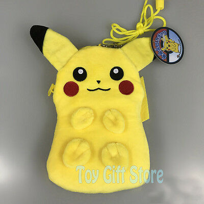 """Pikachu 7"""" Coin Bag Poke Plush Cell Phone Purse New for gift"""