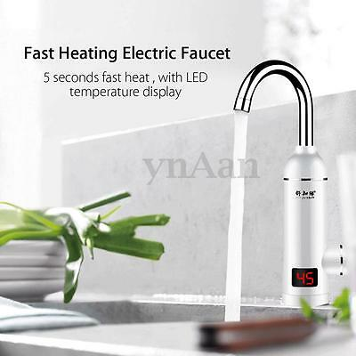 3000W LED Electric Instant Heating Water Heater Hot & Cold Faucet Tap Tankless