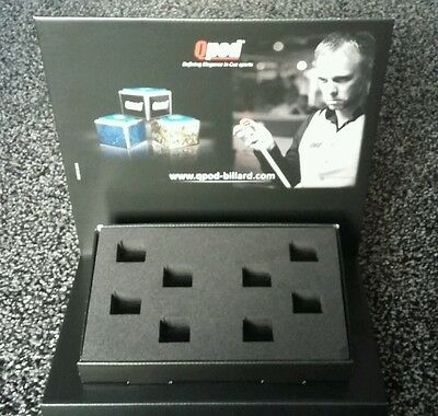 Qpod pool snooker cue chalk stand display collectible NEW