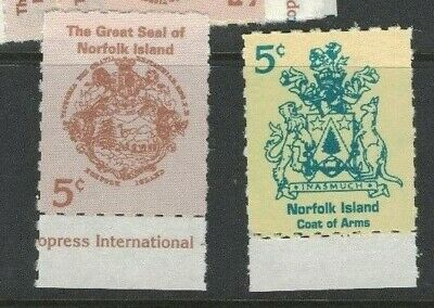 1997 Norfolk Island Coat of Arms SG 632/3 Set of Two, Mint Never Hinged