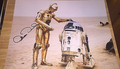 Anthony Daniels In Star Wars As C-3PO Hand Signed 11x14 Autographed Photo COA