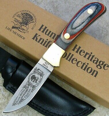 NAHC Hunting Heritage COLLECTION Fixed Blade Knife Multi-color Wood Handle