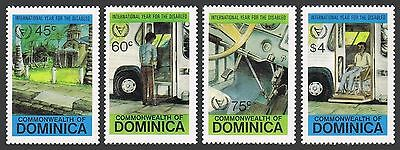 Dominica 734-737,MNH.Michel 748-751. Year of the Disabled IYD-1981.Ramp curb,Bus